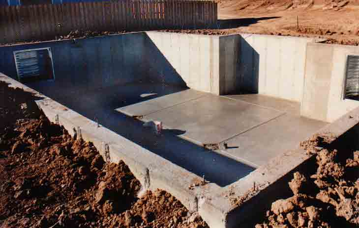 A Concrete Foundation Wall Basement